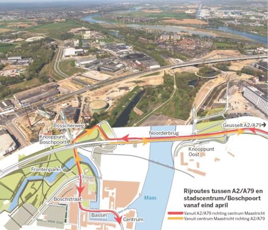 Einde aan omrijden: op- en afritten Noorderbrug Maastricht gaan open