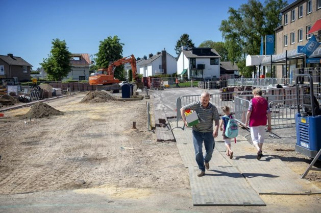 Europaplein in Hulsberg is bouwput