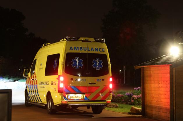 Persoon lichtgewond op vakantiepark Hommelheide