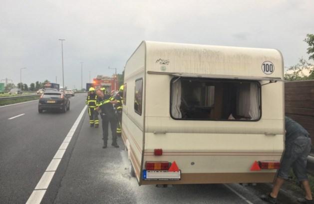 File op A2 na brand in caravan