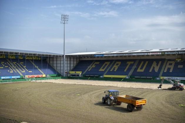 Hybride grasmat in stadion Fortuna Sittard