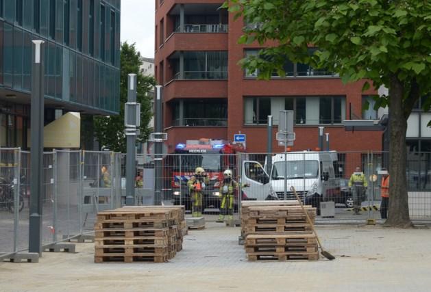 Gaslek in centrum Heerlen door werkzaamheden, brandweer rukt uit