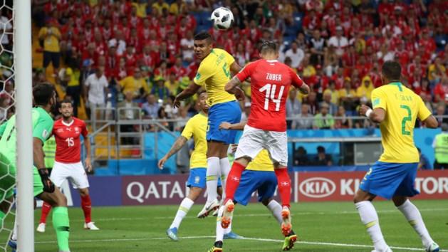 Brazilië worstelt met Zwitserland: 1-1