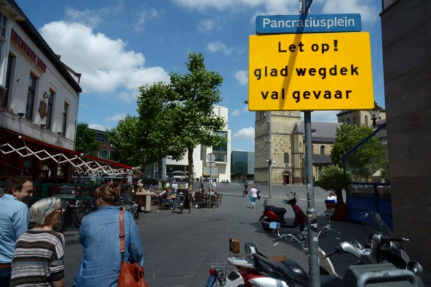 Waarschuwingsborden Pancratiusplein in Heerlen kunnen weg