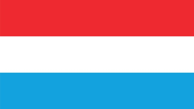 Luxemburgse driekleur wappert op stadhuis Maastricht