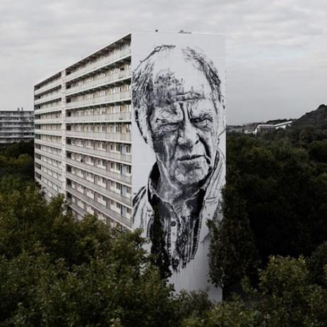 Nog eens acht mega-murals op flats Heerlerbaan