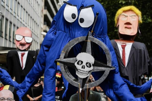Betoging tegen komst Trump in Brussel