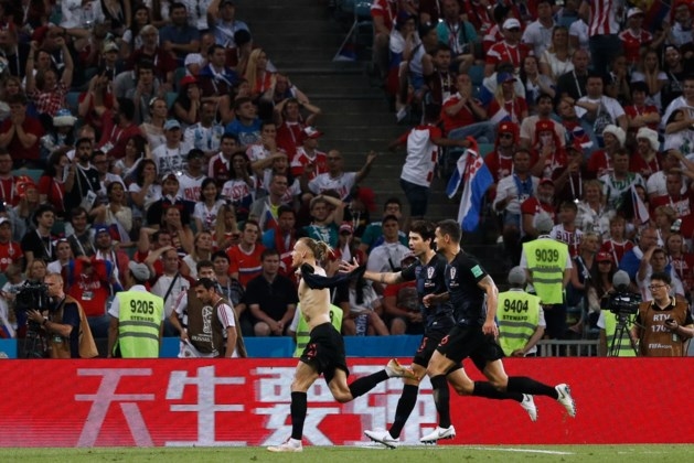 Kroatië verslaat Rusland na strafschoppen