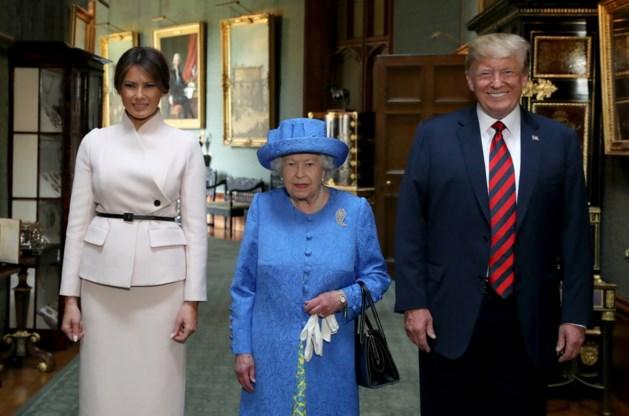 Trump bij koningin Elizabeth op Windsor Castle