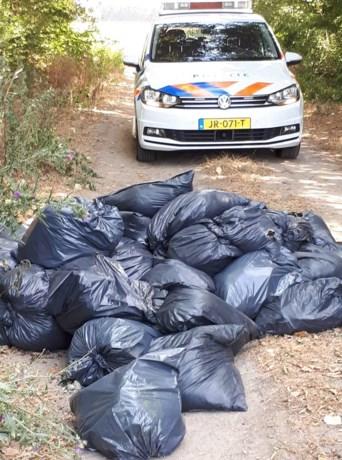 Hennepafval gedumpt nabij Graetheide