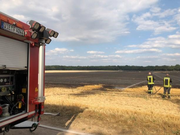 Speelpark Tegelen ontruimd om brand in veld