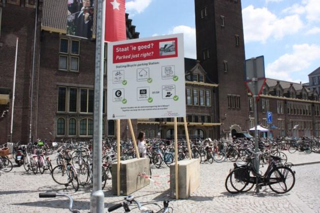 Borden tegen fout gestalde fietsen massaal genegeerd