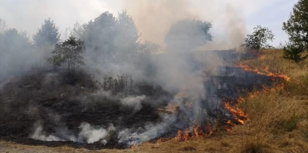 Grote natuurbrand in Hoensbroek