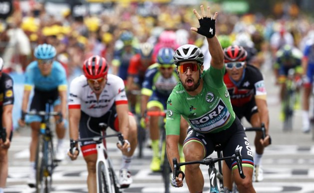 Derde etappezege voor Sagan in Tour de France