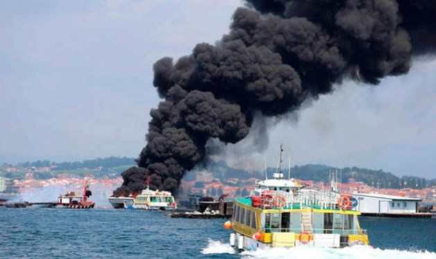 Gewonden door brand op toeristenboot Spanje