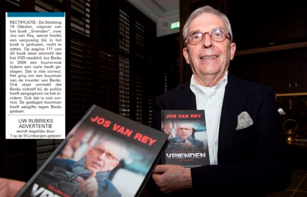 Fout in boek over Jos van Rey gerectificeerd