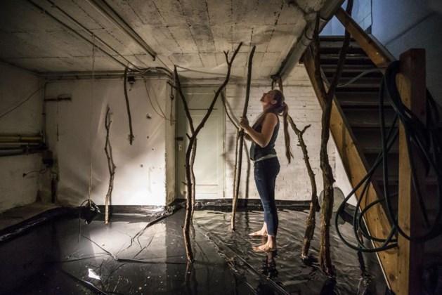 Kelder onder water voor kunstexpo Venlo