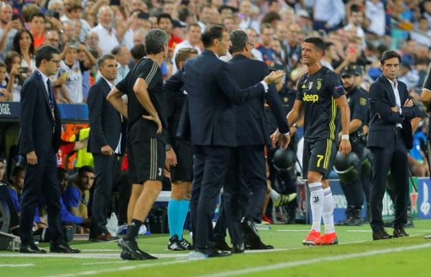 Ronaldo na eerste rood in CL in tranen van het veld