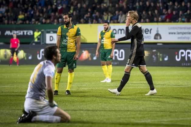 Auto Fortuna-keeper blokkeert Ajax-bus