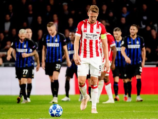 PSV geeft voorsprong weg tegen Inter en blijft zonder punten in Champions League