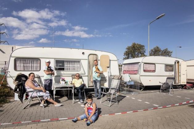 Woonwagenbewoners Spaubeek voeren actie voor meer staanplaatsen