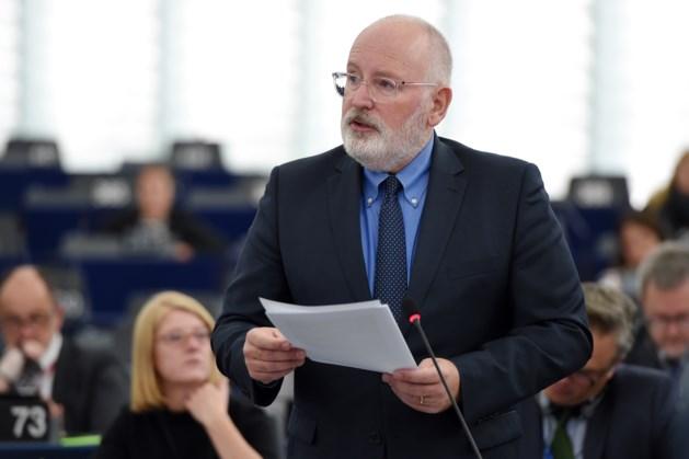 Frans Timmermans over voorzitterschap Europese Commissie: 'Beetje rommelige avond'