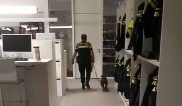 Hondje meegenomen naar politiebureau