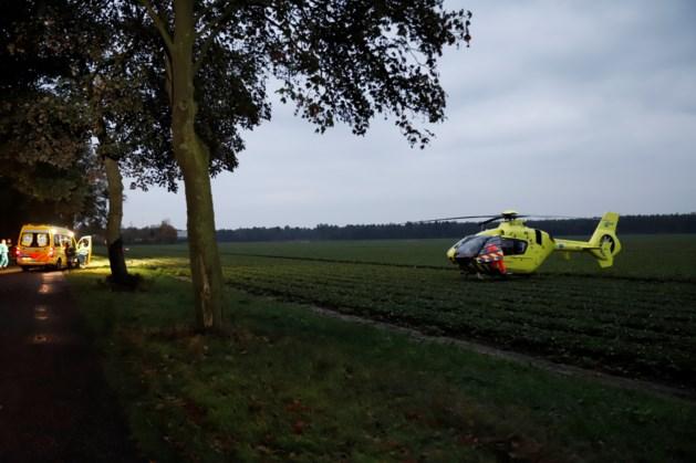 Auto botst tegen boom; traumahelikopter opgeroepen