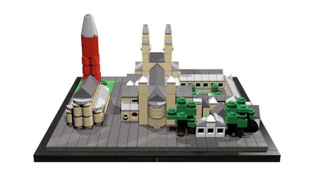 De Servaas en de Sint Jan bouwen met legostenen