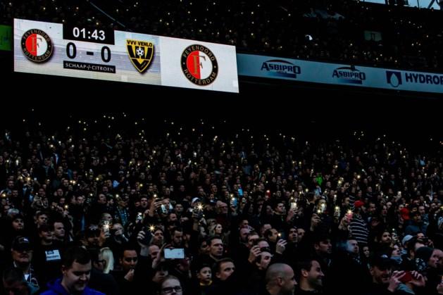 Lichten niet op tijd weer aan: wedstrijd Feyenoord - VVV definitief gestaakt