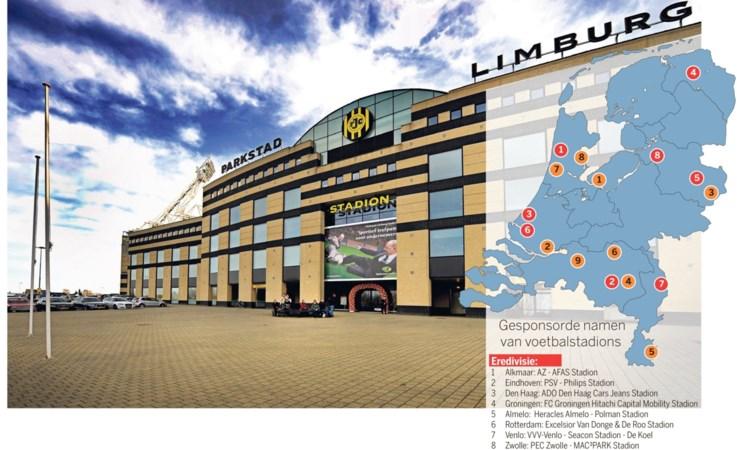 Gaat een merknaam boven de ingang van het Roda-stadion wel werken?