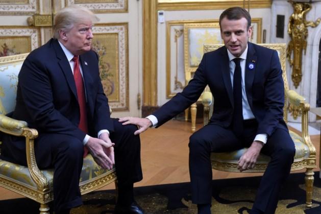 Trump en Macron: meer NAVO-kosten Europa