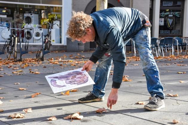 Eerste 3D-straattekening op Wilhelminaplein in Heerlen