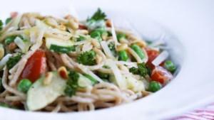 Smeuïge pasta met zuivelspread