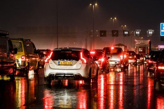 Ongeluk met vier auto's op A76