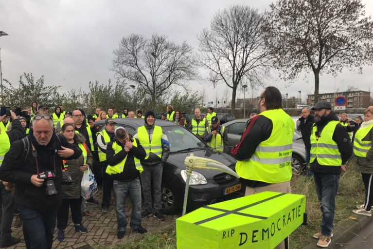Protest 'gele hesjes' in Maastricht verloopt rustig