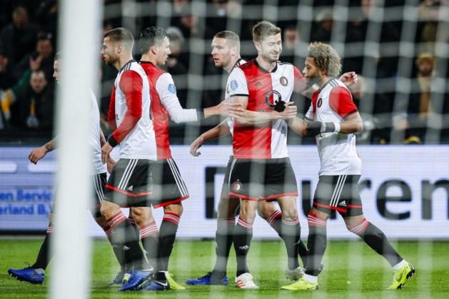 Feyenoord heeft aan één doelpunt genoeg