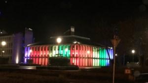Gouvernement aan de Maas in regenboogkleuren