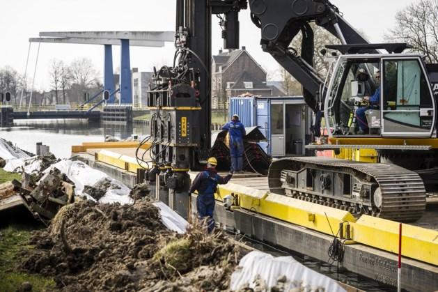 Zuid-Willemsvaart in Nederweert krijgt nieuwe damwanden