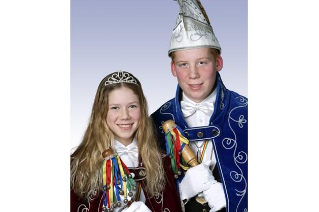 Pim en Lotte vormen jeugdprinsenpaar Beringse Kuus