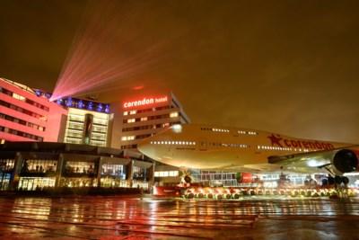747-attractie 'geland' in hoteltuin Corendon