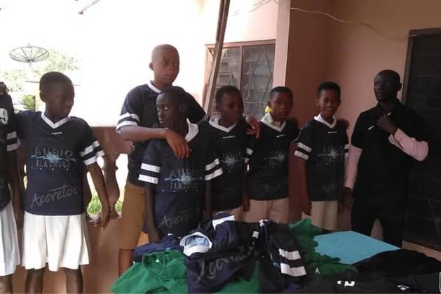 Nieuwe bestemming voor oude shirts Volleybalclub Accretos