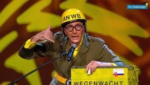 Video: Henrie van Geneijgen uit Swartbroek met de buut 'Sjaak den Weegewacht'