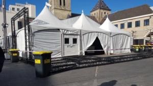 Stellage valt om: twee gewonden bij afbreken van carnavalstent Heerlen