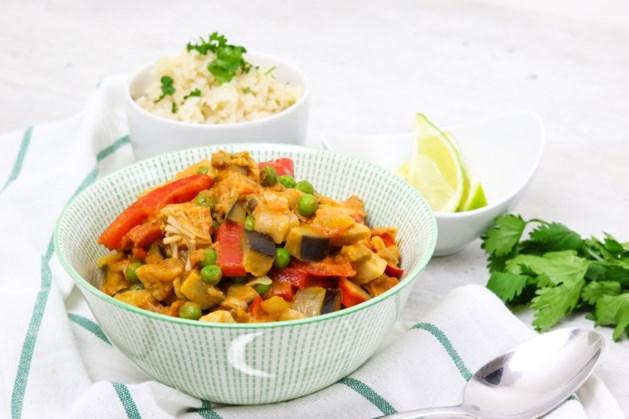 Rode curry met jackfruit en lekker veel groenten