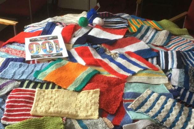 Zusters Fransiscanessen gedenken vrijheid met ruim 130 breisels