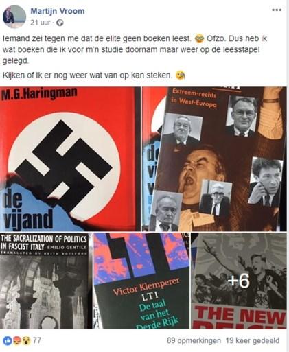 Burgemeester onder vuur na 'nazi-bericht' op Facebook