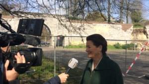 Video: Ingestorte stadsmuur Maastricht stond al onder toezicht