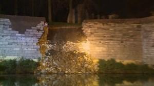 Video: Deel van oude stadsmuur in Maastricht ingestort