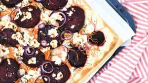 Flammkuchen met rode biet en geitenkaas: als fingerfood of als maaltijd